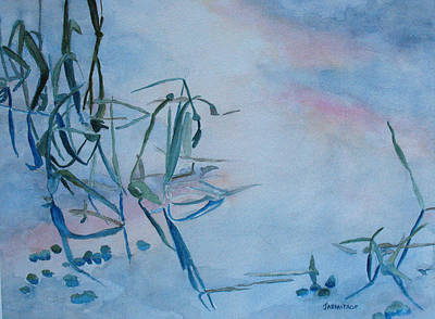 Reeds At Sunset Original by Jenny Armitage
