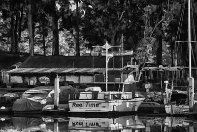 Reel Time In Bw Print by Patricia Stalter