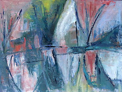 Curvilinear Painting - Reflections On Sails And Canvas by Betty Pieper
