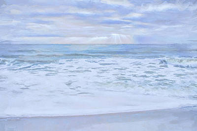 Beach Digital Art - Refelections 2 by Lonnie Christopher