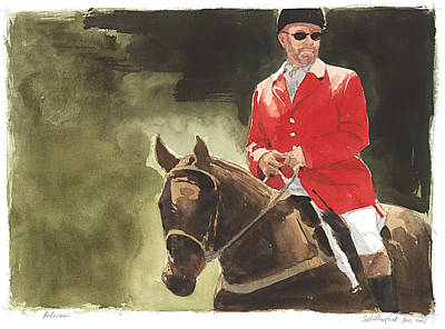 Steeplechase Race Painting - Referee by Stephen Rutherford