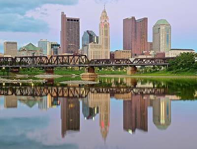 Photograph - Reflecting Columbus  by Frozen in Time Fine Art Photography