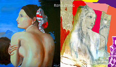 James Gallagher Painting - Reflecting by James Gallagher