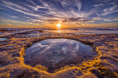 Cloud Formations Photograph - Reflecting Pool by Peter Tellone