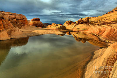 Reflecting The Desert Skies Print by Adam Jewell