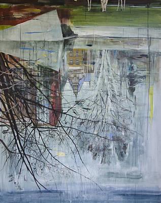 Inverted Painting - Reflection Architecture Planten Un Blomen by Calum McClure