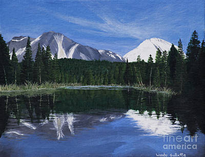 Lassen Painting - Reflection Lake by Wendy Galletta