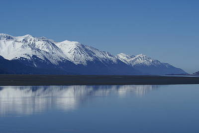 Reflection Mountains Print by Robert Reasner