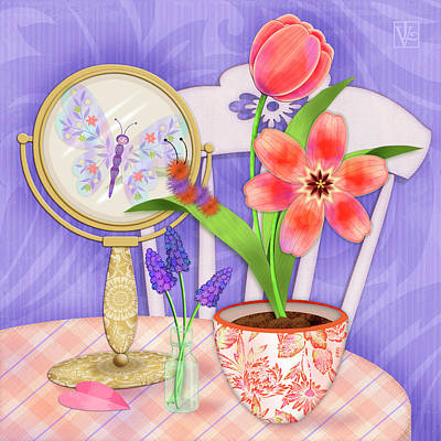 Reflection Of A Promise Print by Valerie Drake Lesiak