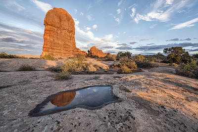 Horizontal Photograph - Reflection Of Arches by Jon Glaser