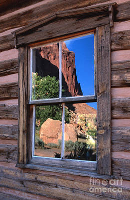 Cabin Window Photograph - Reflection Of Beauty by Sandra Bronstein