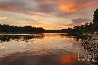 Angling Photograph - Reflections On The Willamette River by Robert Bales
