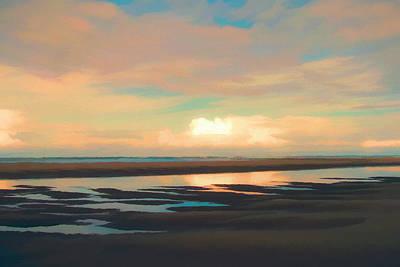 Beach Digital Art - Reflection Pools by Lonnie Christopher