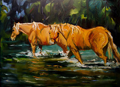 Painting - Reflection River Horse by Diane Whitehead