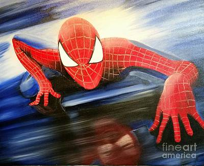 Spidey Painting - Reflection by Roxane Gabriel