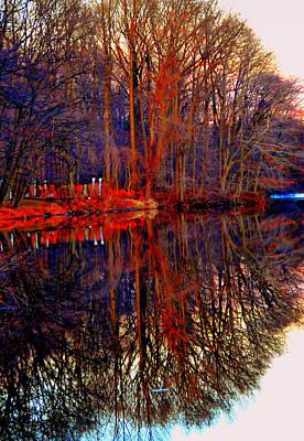 Eagls Digital Art - Reflections At Farrinton Lake by Aron Chervin