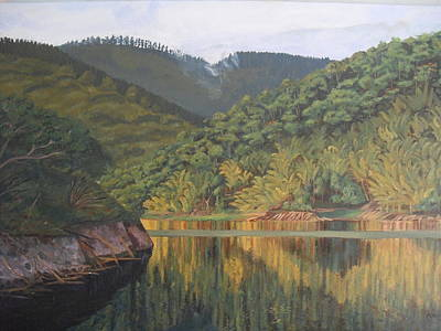 Reflections At The Dam Original by Anji Worton