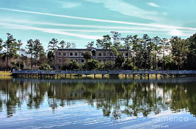 Reflections At The Lake Print by Deborah Benoit