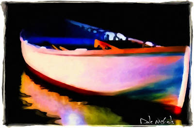 Dingy Painting - Reflections by Dale Nichols