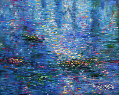Abstact Painting - Reflections by Eduardo Rodriguez