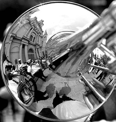 Trombone Photograph - Reflections In A Trombone by Todd Fox
