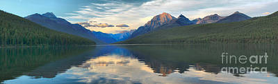 Reflections In Bowman Lake Print by Adam Jewell