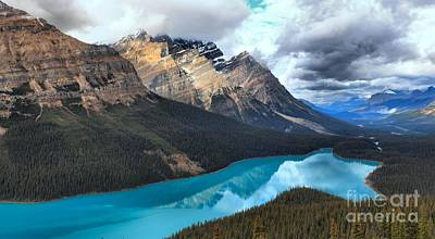 Reflections In Peyto Print by Adam Jewell