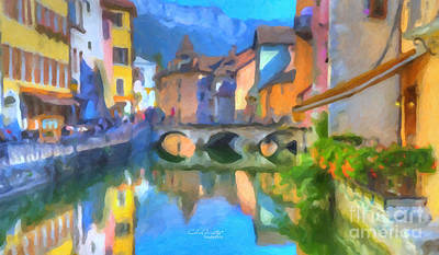 Reflections Of Eze Print by Chris Armytage