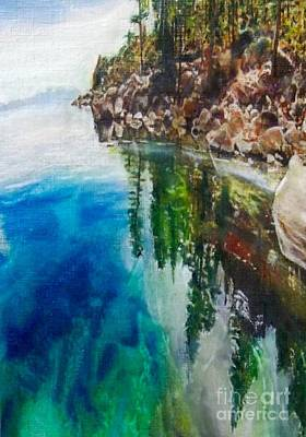 Encaustic Painting - Reflections Of Quetico by Cara Frafjord