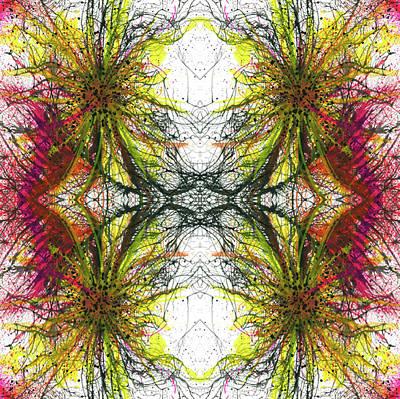 Reflections Of The Inner Light #1513 Print by Rainbow Artist Orlando L aka Kevin Orlando Lau