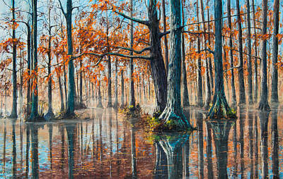 Brake Painting - Reflections On Autumn by Bill Jackson