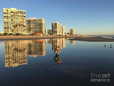 Reflections On Coronado Print by Becca Lynn Weeks