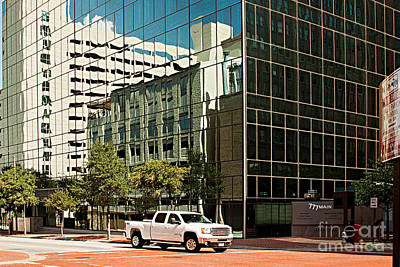 Reflections On Fort Worth Print by Christian Hallweger