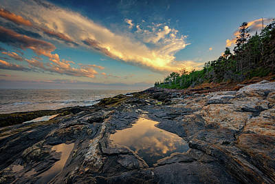 Downeast Photograph - Reflections On Muscongus Bay by Rick Berk