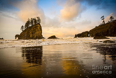 Reflections On Second Beach Print by Jamie Pham