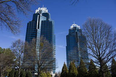 Reflective Blues Concourse Buildings Atlanta Print by Reid Callaway