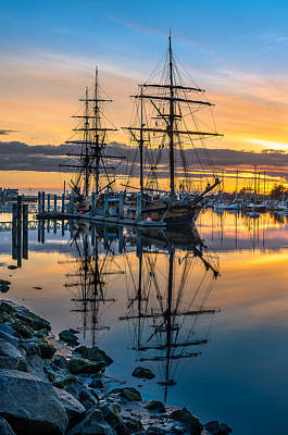 Reflectons On Sailing Ships Print by Greg Nyquist