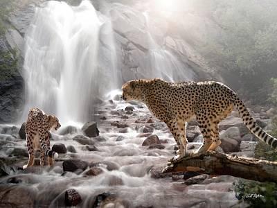 Cheetah Mixed Media - Refreshed by Bill Stephens