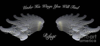 Bible Verse Photograph - Refuge by Cheryl Young