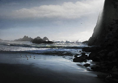 Sandpiper Digital Art - Refuge In The Shadow by Cliff Hawley