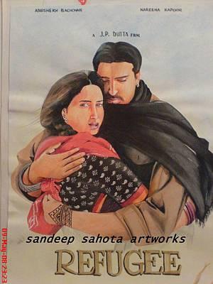 Catherine Jackson Painting - Refugee by Sandeep Kumar Sahota