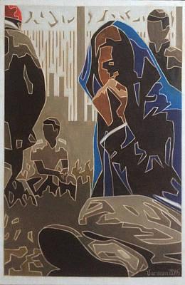 En Route Painting - Refugeehood by Varvara Stylidou