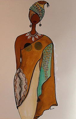 Afrocentric Painting - Regal by Peche Brown