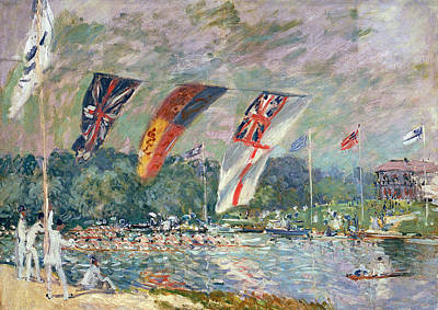 Regatta At Molesey Print by Alfred Sisley