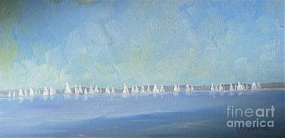 Painting - Regatta Calm by Keith Wilkie