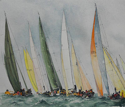 Regatta Print by Carol McLagan