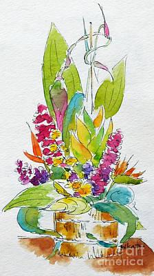 Sea Birds Painting - Regatta Tropical Floral by Pat Katz