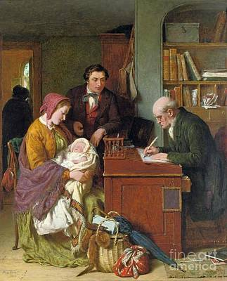 Registering The First Born  Print by George Smith