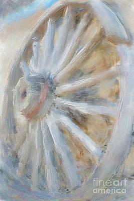 Vintage Painting - Reinventing The Vintage Wheel by Danuta Bennett