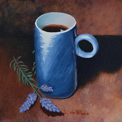 Front View Painting - Relax With A Cuppa Java by Leana De Villiers